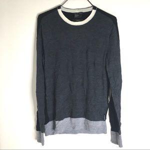 💯% Merino Wool Colour Block Knit Sweater